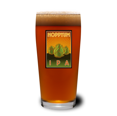 Hoppyum IPA Glass