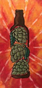 ppie Hops Painting Foothills Tasting Room