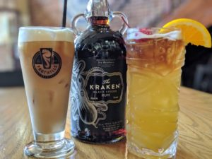 Kraken Rum drinks at Foothills brewpub